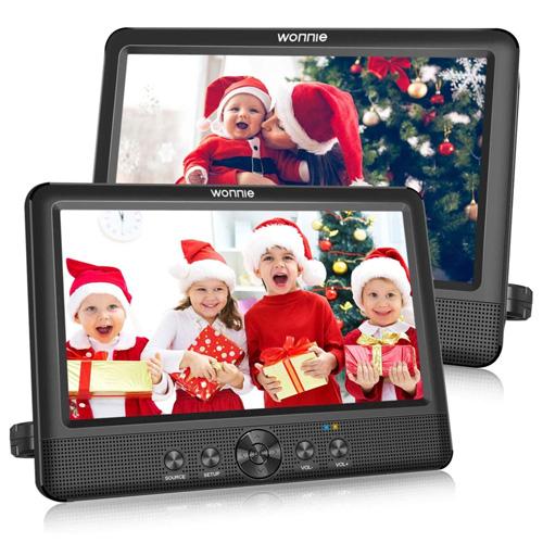 WONNIE Dual Portable DVD Player