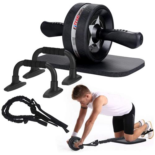 EnterSports Ab Roller Wheel, 6-in-1 Ab Roller Kit