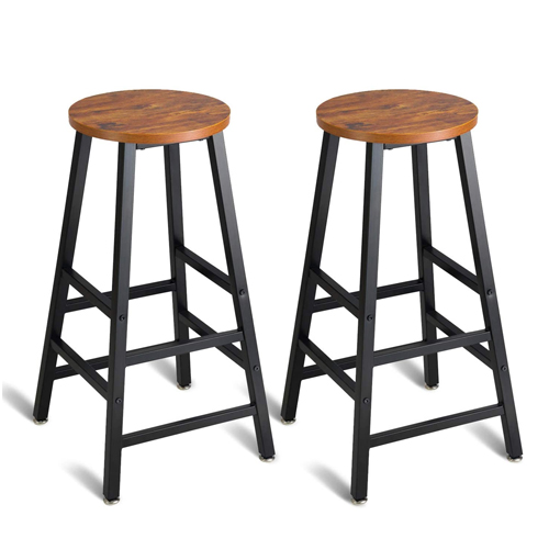 Mr. IRONSTONE Pub Height Bar Stools Set of 2