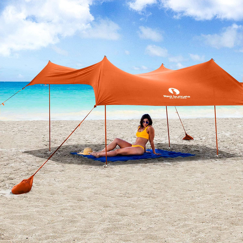 Red Suricata Family Beach Sunshade Tent