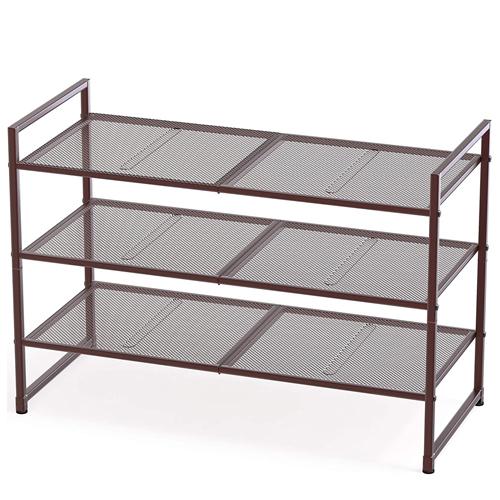 Simple Houseware 3-Tier Stackable Shoes Rack Storage Organizer Shelf