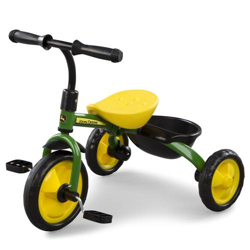 TOMY John Deere Heavy Duty Kids Steel Tricycle