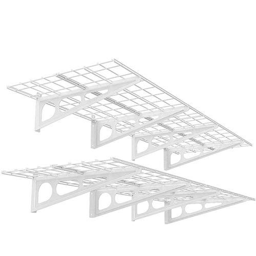 FLEXIMOUNTS 2-Pack Wall Garage Storage Rack