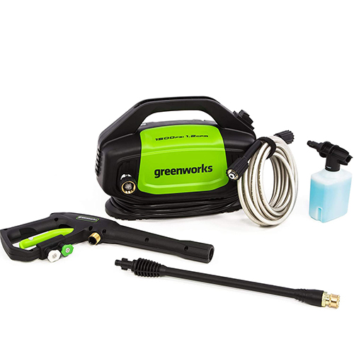 Greenworks GPW1502 1500PSI Electric Pressure Washer – Most Compact