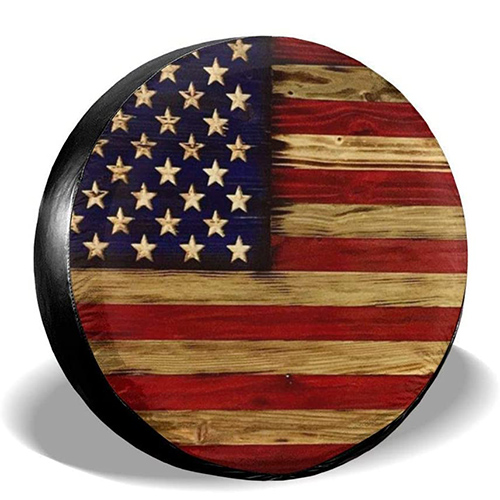 TianHeYue American Flag Tire Cover