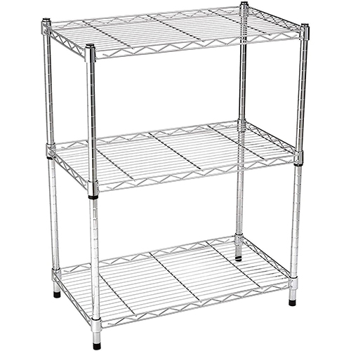 Amazon Basics 3-Shelf Adjustable Metal Storage Shelves
