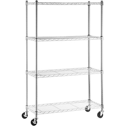 Amazon Basics 4-Shelf Heavy Duty Metal Storage Shelves