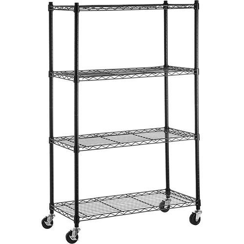 Amazon Basics 4-Shelf Heavy Duty Metal Storage Shelveson