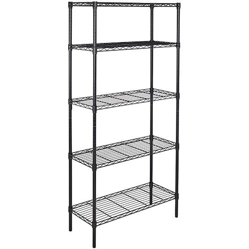 Amazon Basics 5-Shelf Adjustable, Heavy Metal Storage Shelves