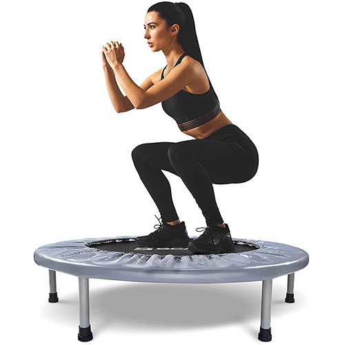 BCAN 38-Inch Foldable Mini Indoor Trampoline (Max 300lbs)