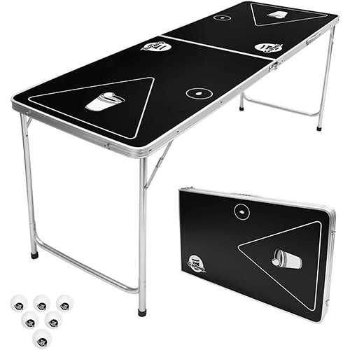 GoPong 6-Foot Portable Folding Beer Pong Table