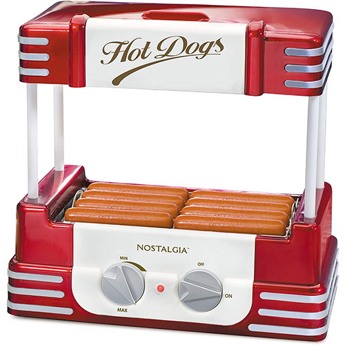Nostalgia RHD800 Hot Dog Roller and Bun Warmer