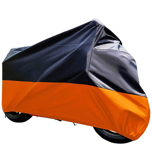 Tokept Black and Orange Waterproof Sun Motorcycle Cover