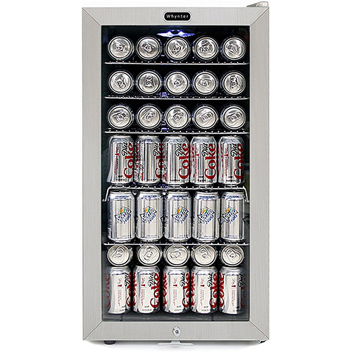Whynter BR-128WS Beverage Cooler with Lock, 120 12oz Cans