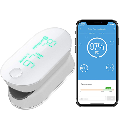 iHealth Perfusion Index on the App Finger Pulse Oximeters